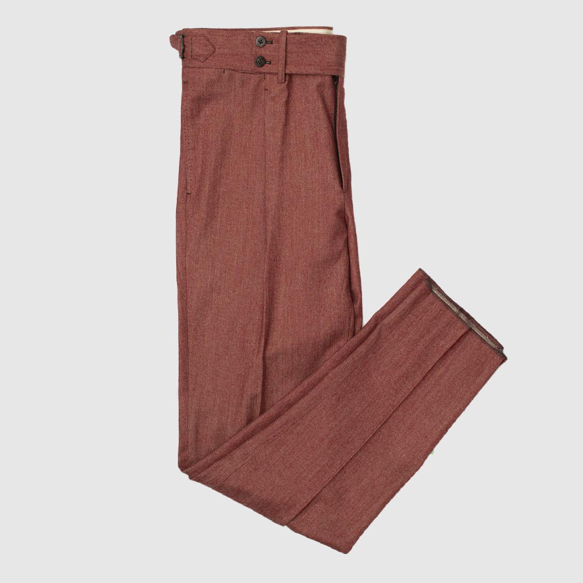 Pantalone burgundy in Lana single pience