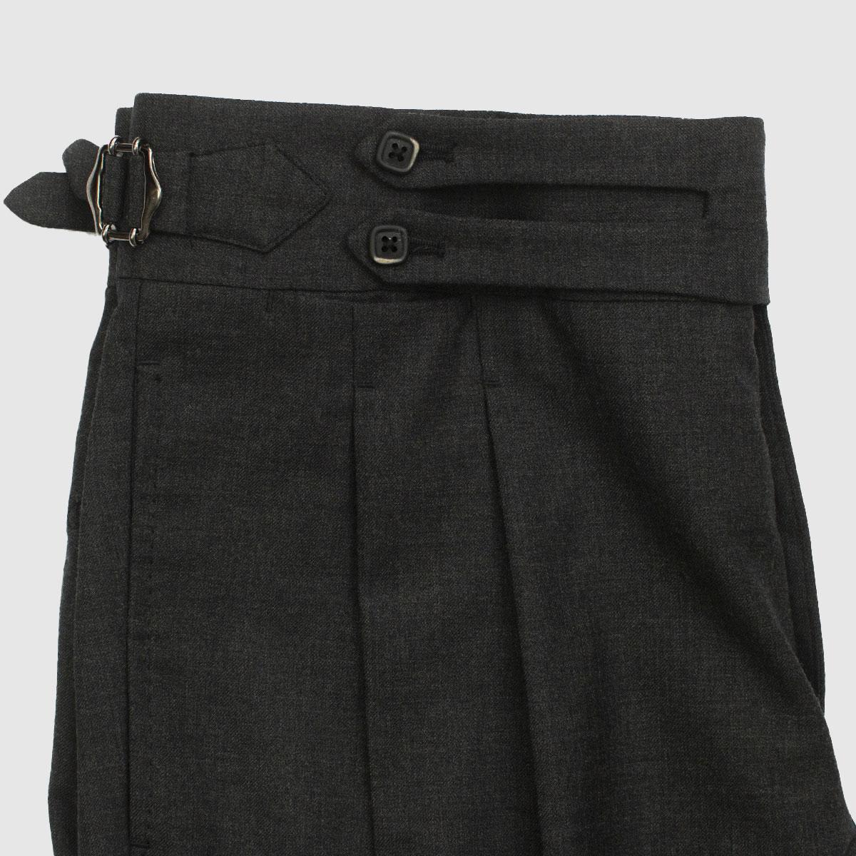Pantalone nero antracite doppia pinces
