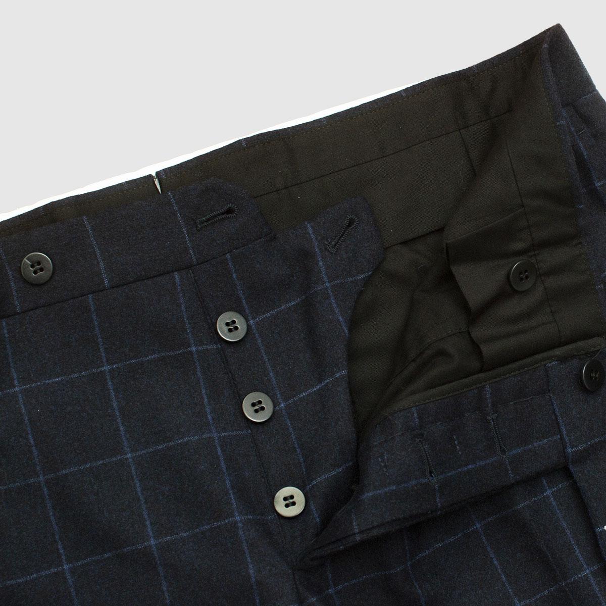 Pantalone classico in 100% Lana finestrata