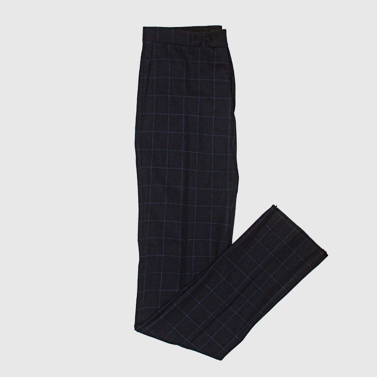 Blue checked Wool trousers