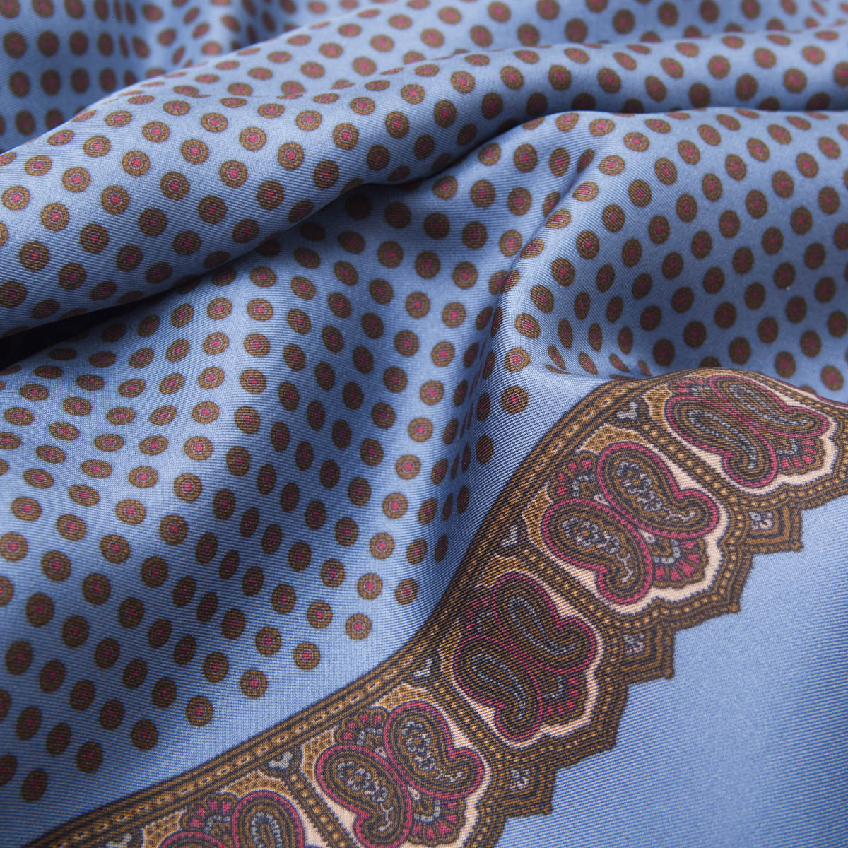 Celestial Silk Scarf with Medaillons pattern