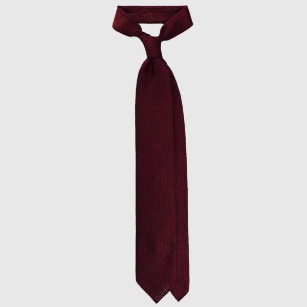 Cravatta Grenadine Garza Grossa – Borgogna