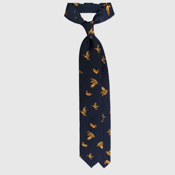 Wild Goose Cravatta in Seta – Navy