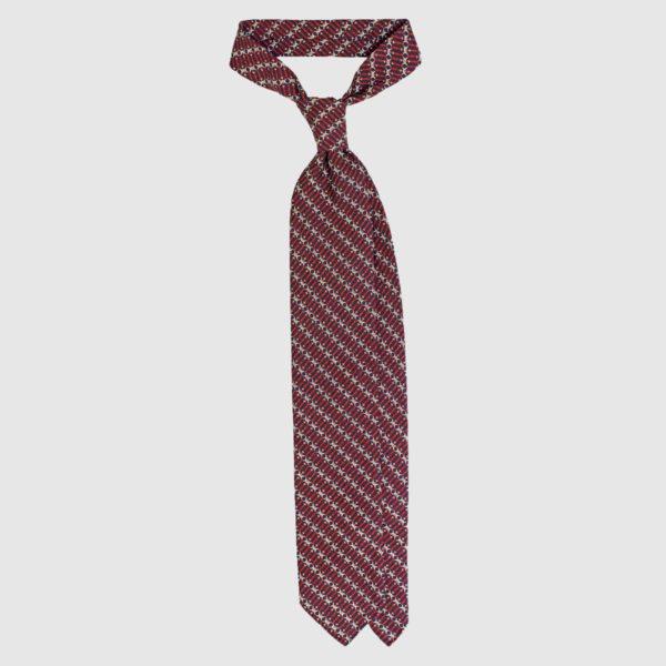 Cravatta Chain Di Seta – Rosso