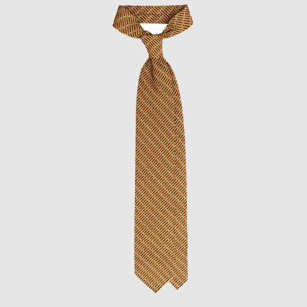 Cravatta Chain in Seta – Mustard Yellow