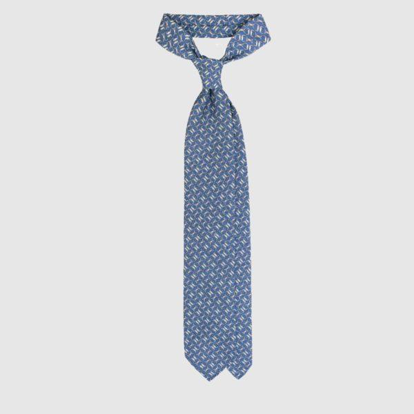 Cravatta Chain in Seta – Azzurro