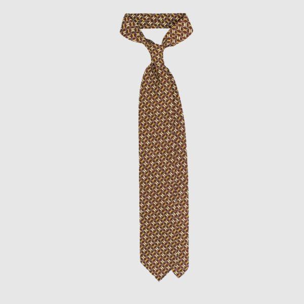Cravatta Chain in Seta – Marrone