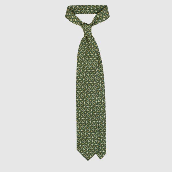 Cravatta Chain in Seta – Verde Foresta