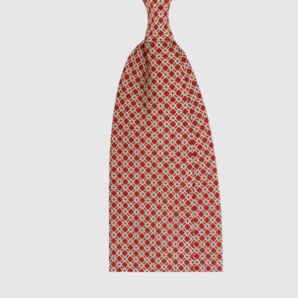 Cravatta Red Chain Motif