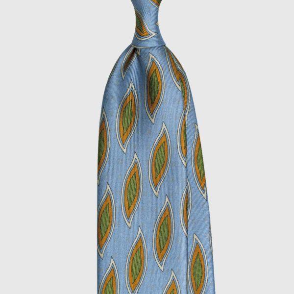 Cravatta Foglia Double Face – Azzurro