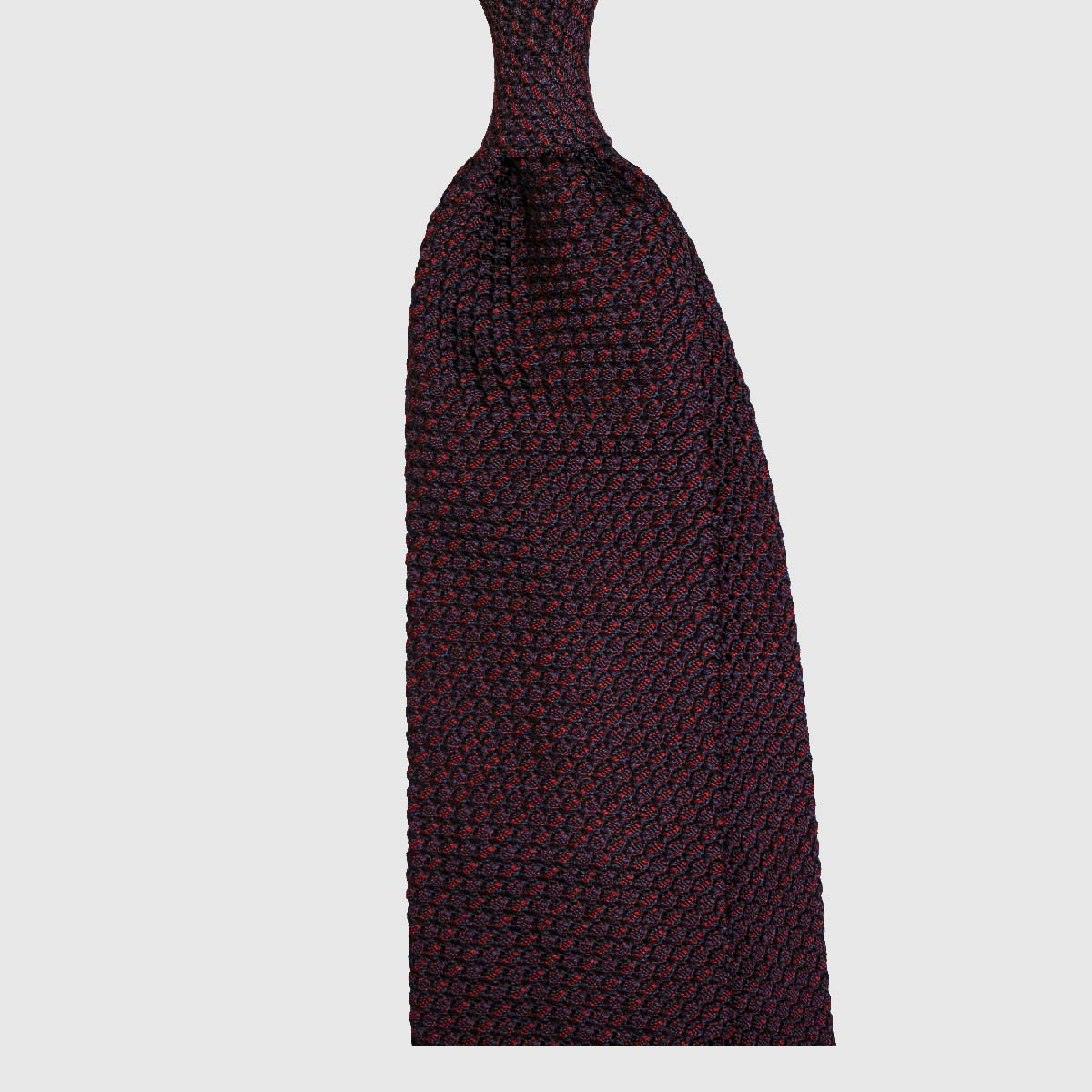 Tonale Striped Grenadine Tie – Navy / Bordeaux