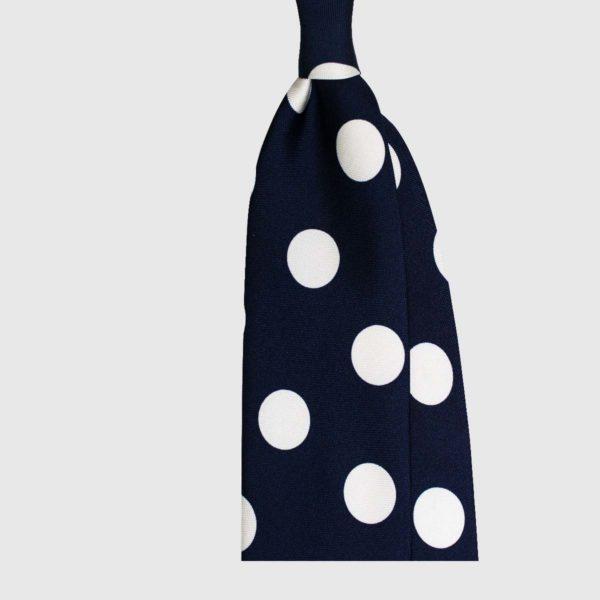 Cravatta Big Dot – Blu Scuro / Bianco