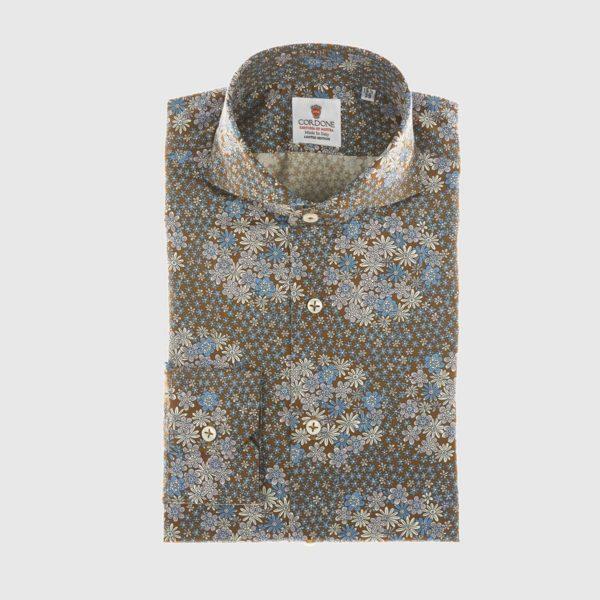 Camicia elegante di ispirazione vintage in blu