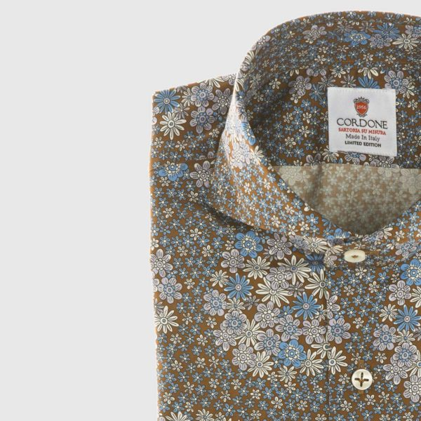 Vintage Inspired Dress Shirt in Blue