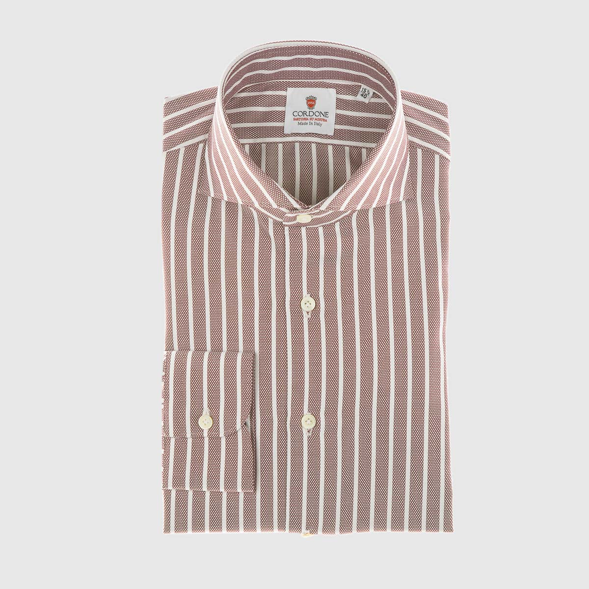 Striped Pique Shirt in Red