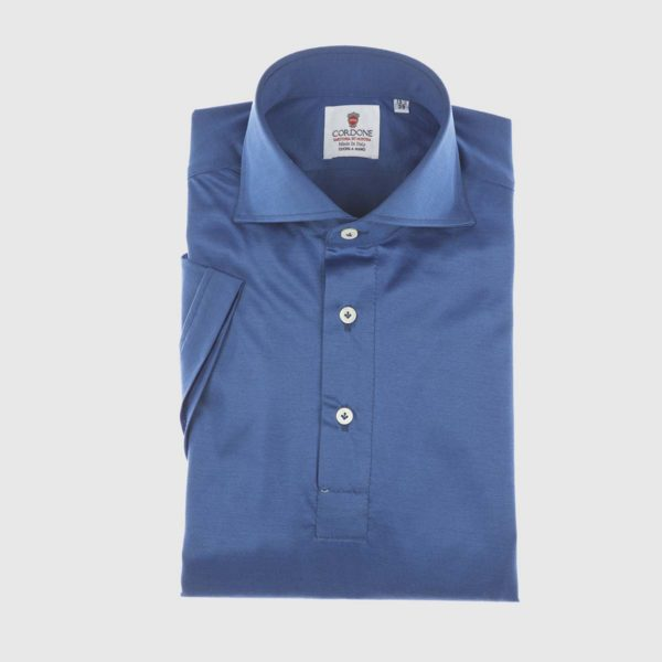 Coastal Short Sleeved Polo in Imperial Blue