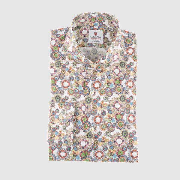 Dress Shirt in Multi Flower
