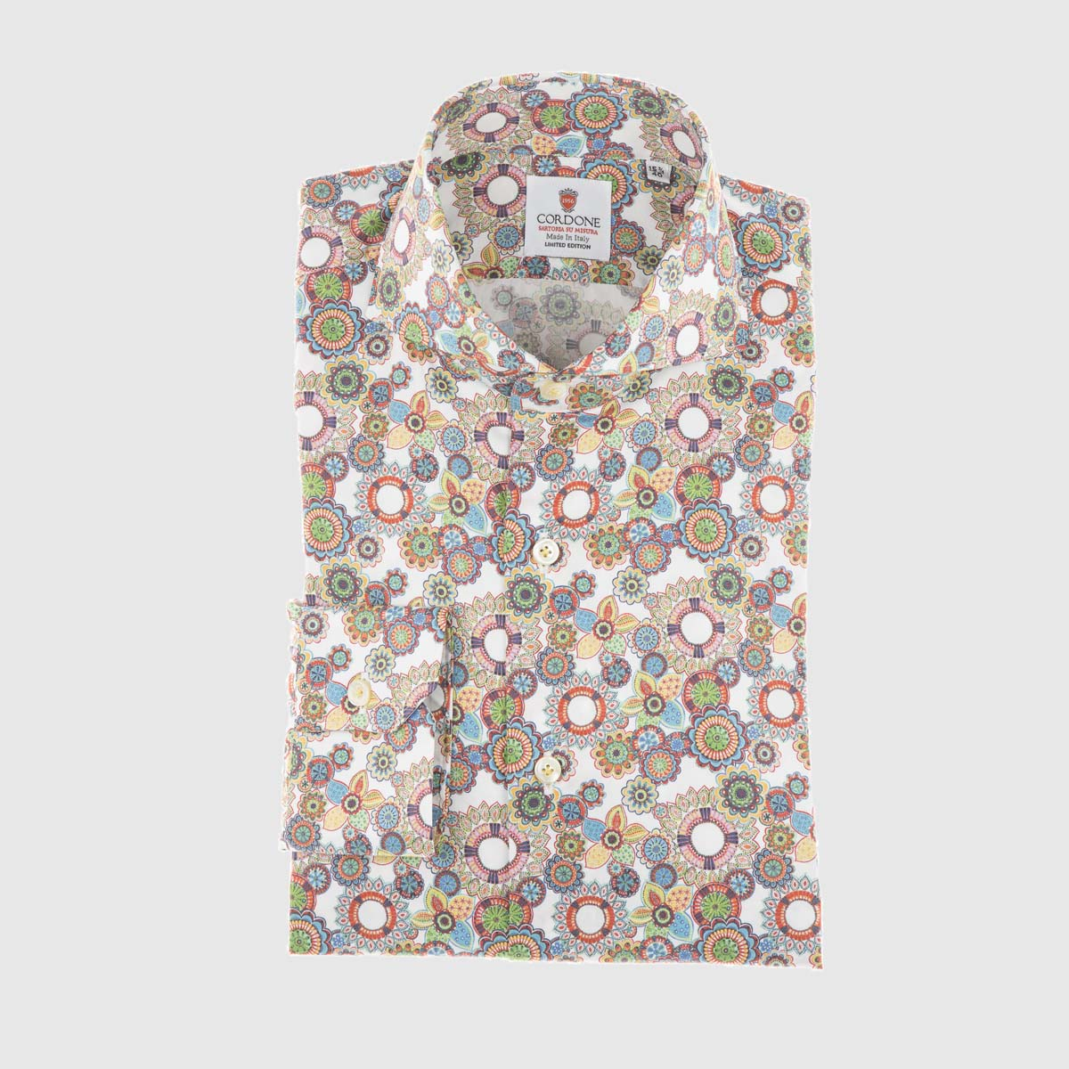 Camicia elegante in multi fiore