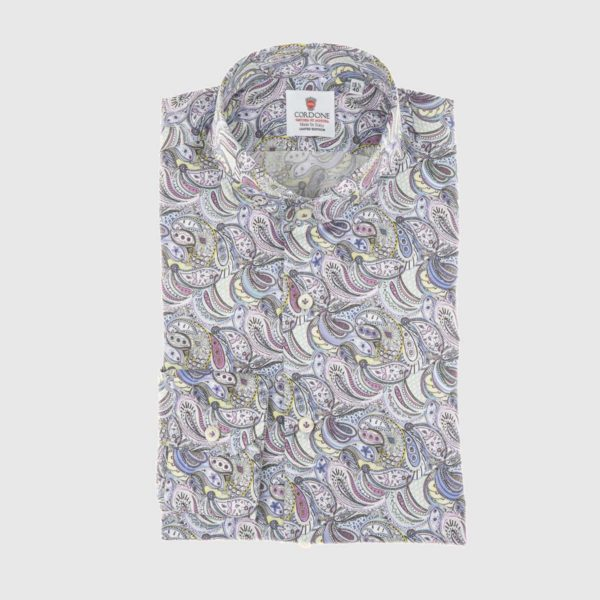 Dress Shirt in Pastel Paisley