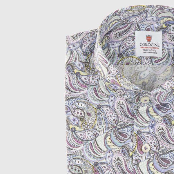 Dress Shirt in Pastel Paisley