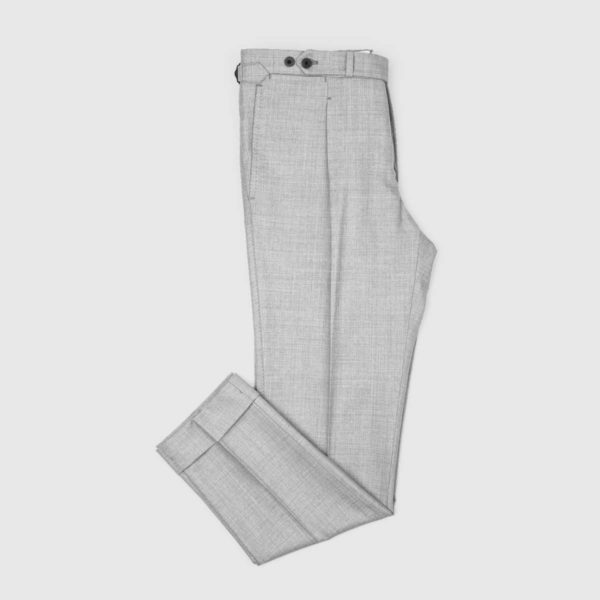 Pantaloni 1 Pince Lana 130'S Grigia