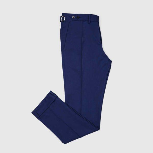 Pantaloni 1 Pince Lana 130'S Zaffiro