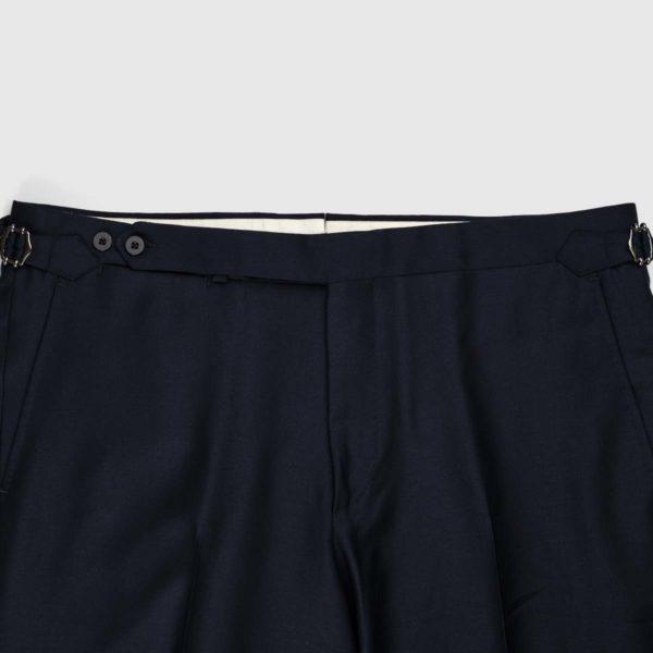 Pantaloni 1 Pince Lana 130'S Deep Blu