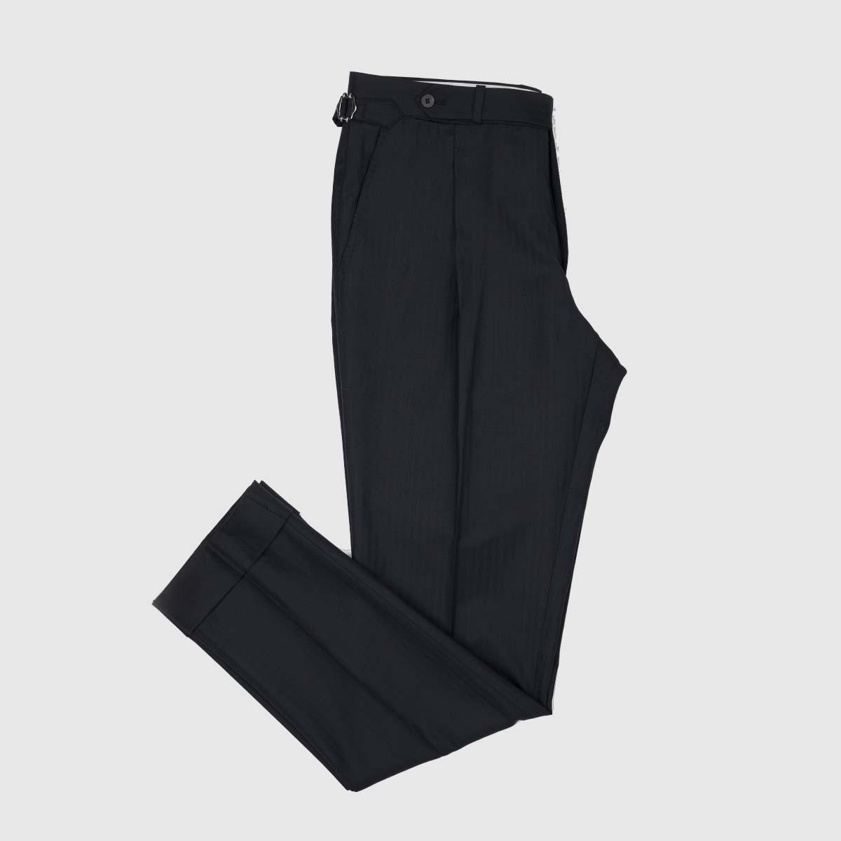 Pantaloni 1 Pince Lana 130'S Nera