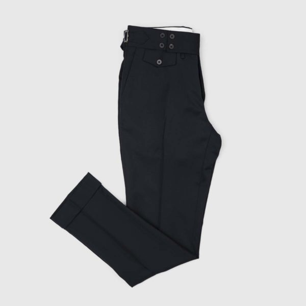 Black Super 130's Wool Trousers