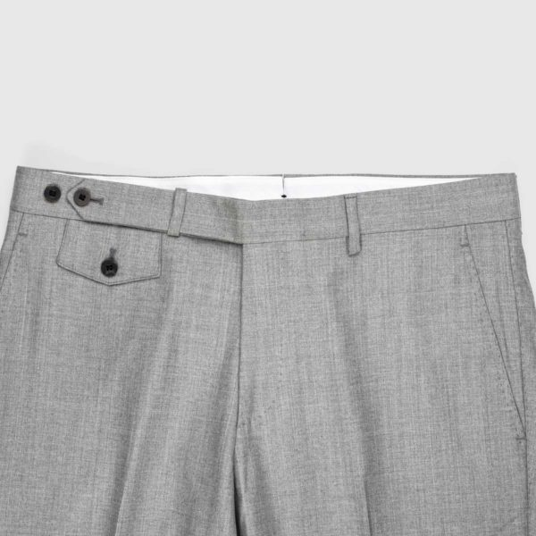 Gray Cotton linen Chino Trousers