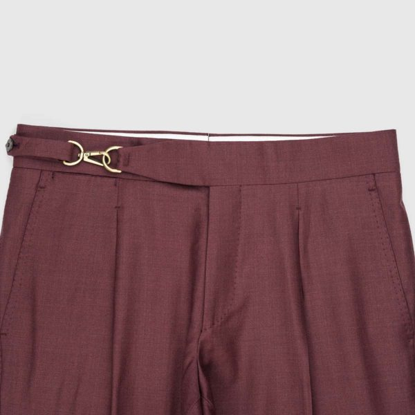 Pantaloni Purple 1 Pince in Lana 150's