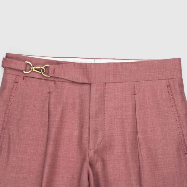 Burgundy One Pleat Super 150's Trousers