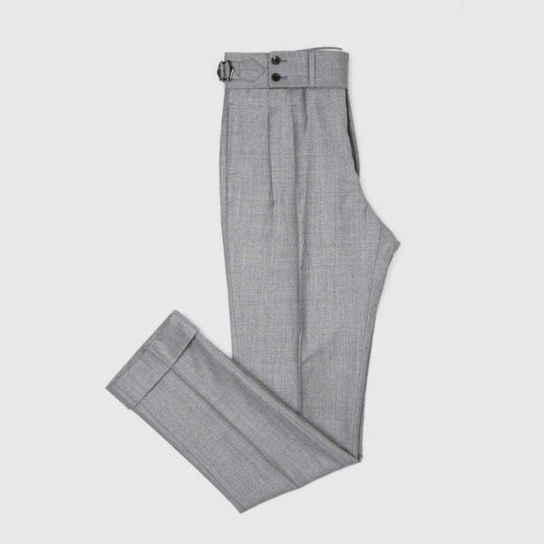 Gray Two Pleats 120's Trouers