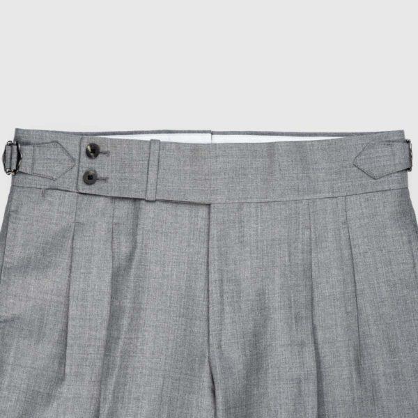 Pantaloni Grigi 2 Pinces in Lana 120's
