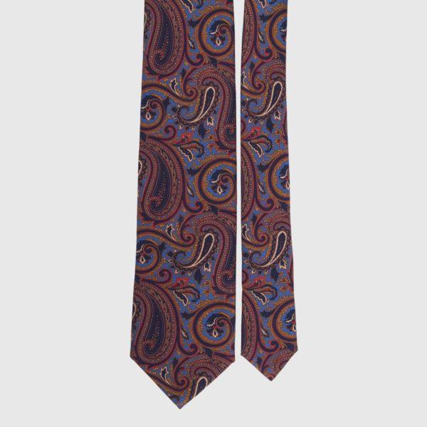 Cravatta di seta in Lapis Paisley