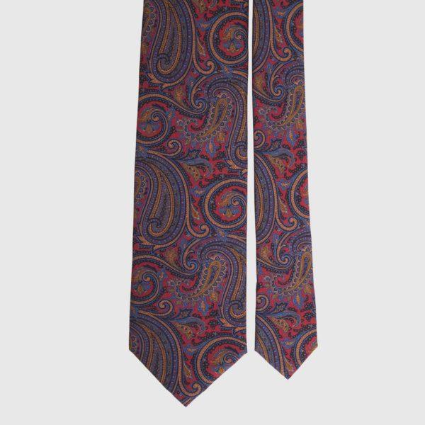 Cravatta di seta in palissandro Paisley