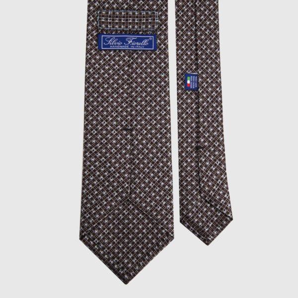 Cravatta di seta in Spice Micro