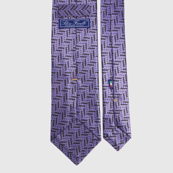 Cravatta di seta in micro Ametista