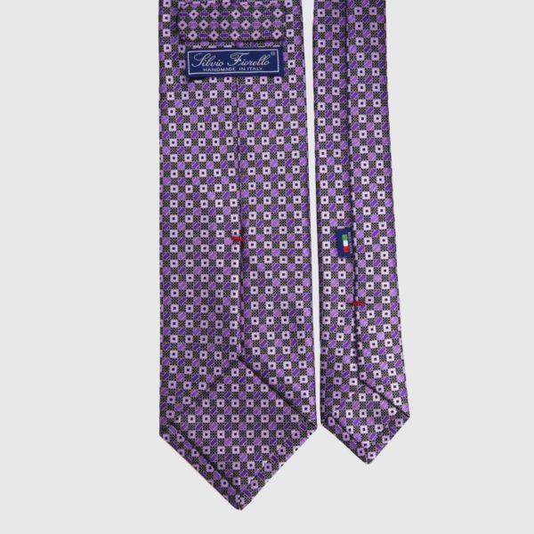 Cravatta di seta in Iris Micro