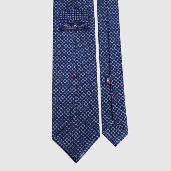 Cravatta di seta in micro navy