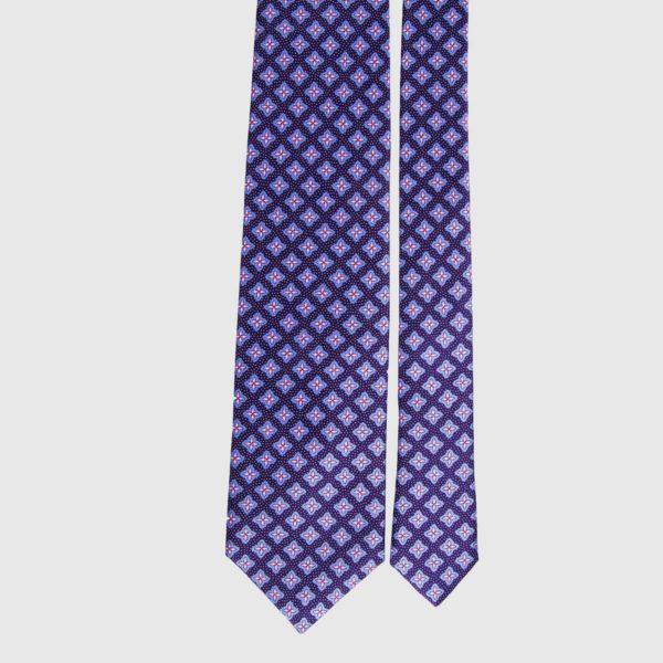 Cravatta in seta in micro prugna