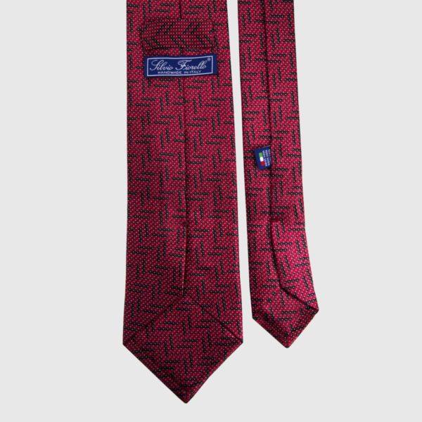 Cravatta di seta in Claret Micro
