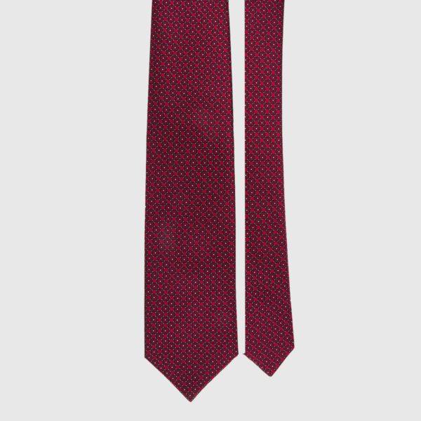Cravatta di seta in micro bordeaux