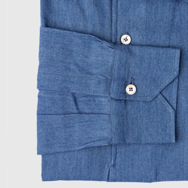 Polo in Chambray Denim