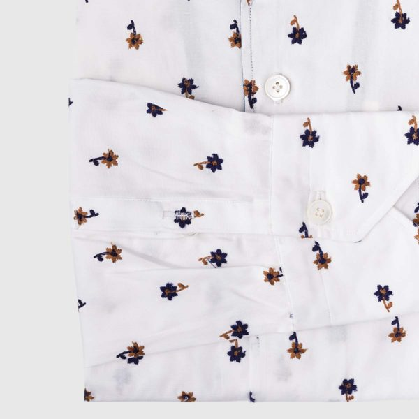 Cervia Polo Shirt in White Flower