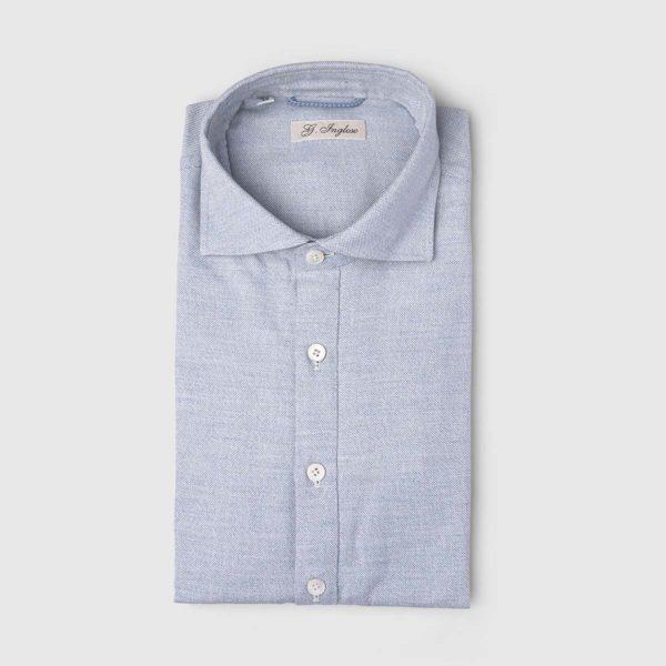 Polo Camicia in Cotone Garzato