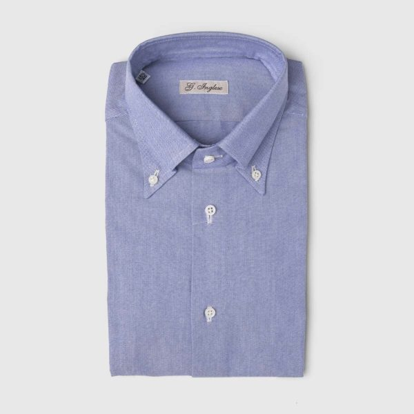 Oxford Master Cotton Dress Shirt in Dark Blue
