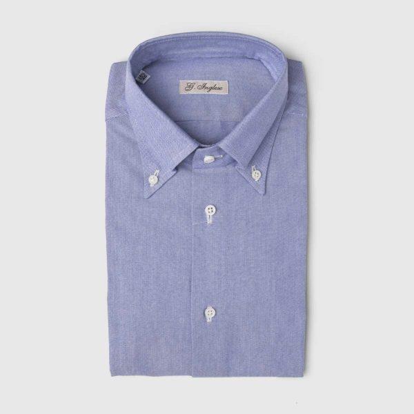 Oxford Master Cotton Dress Shirt in Dark Blue