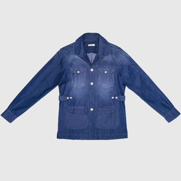 Sahariana Dress Shirt in Denim