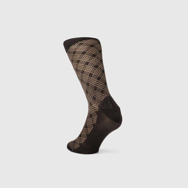 Bresciani 1970 Cotton Socks in Chocolate